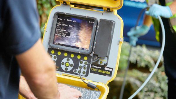 UKDP drainage survey camera monitor