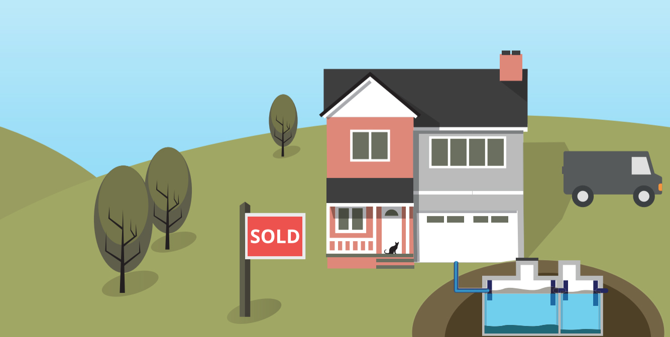 Property sold with septic tank illustration