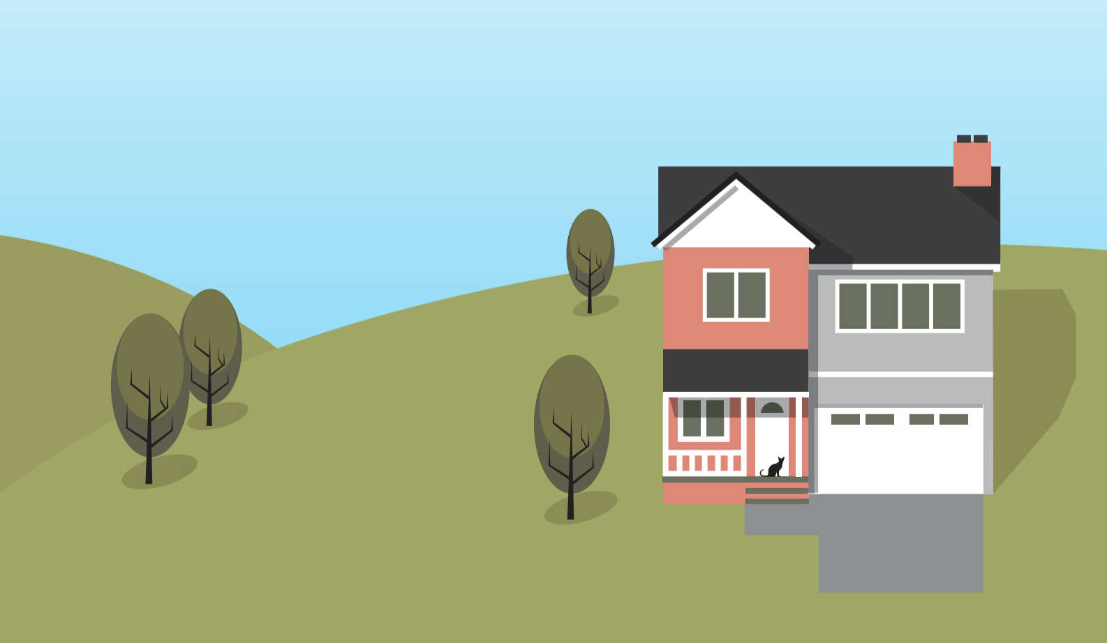 Property with septic tank illustration